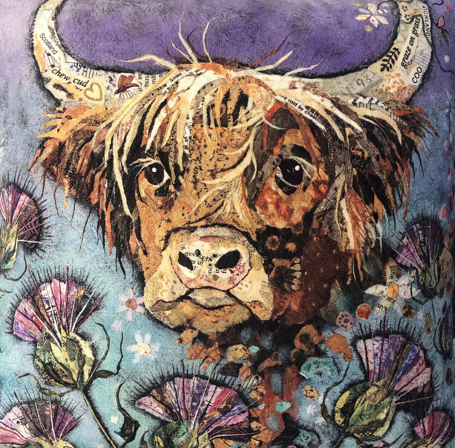 Dawn Maciocia - painted paper artist at the farthing gallery kenilworth